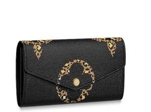 Sarah Jungle Louis Vuitton Black & Caramel Wallet